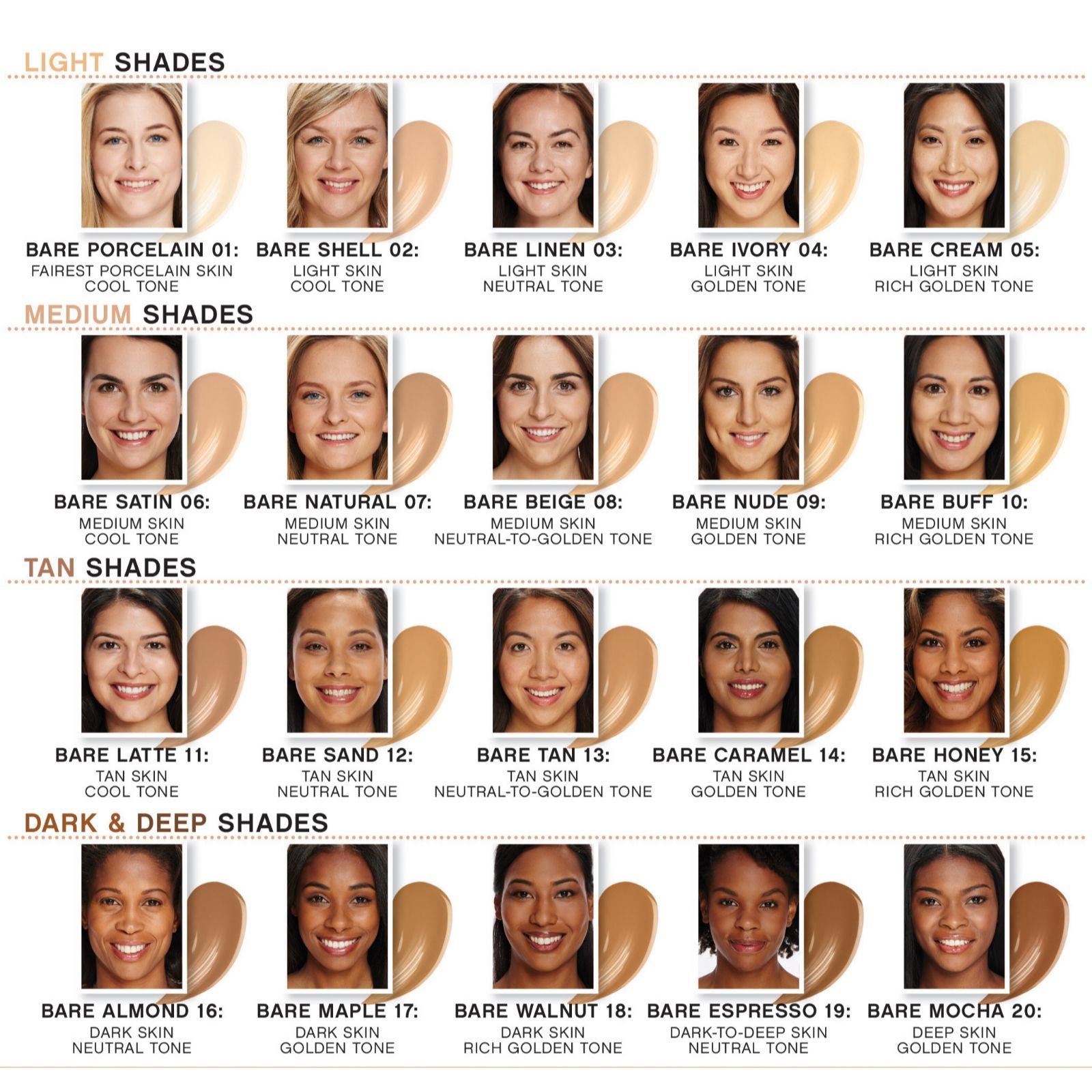 id bare minerals foundation medium tan