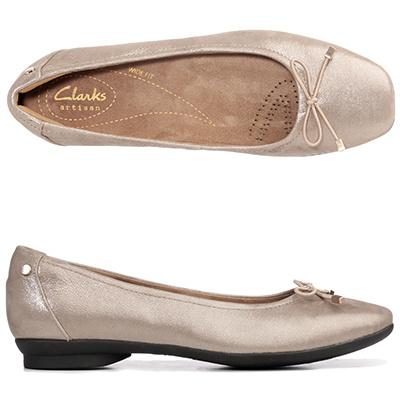 CLARKS® Ballerina Candra Light echt Leder H-Weite