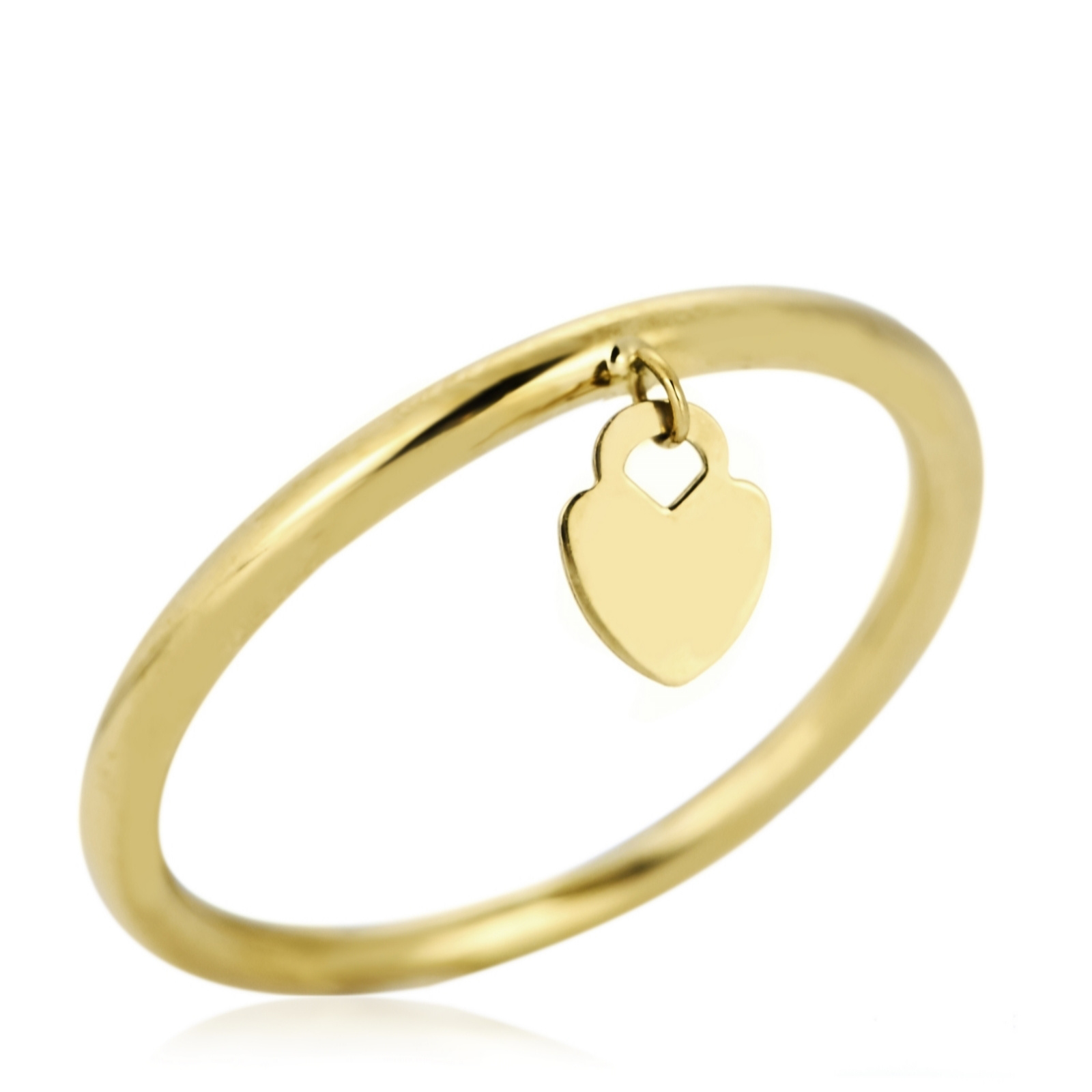 The Gold Room 9ct Gold Charm Drop Ring Page 1 QVC UK