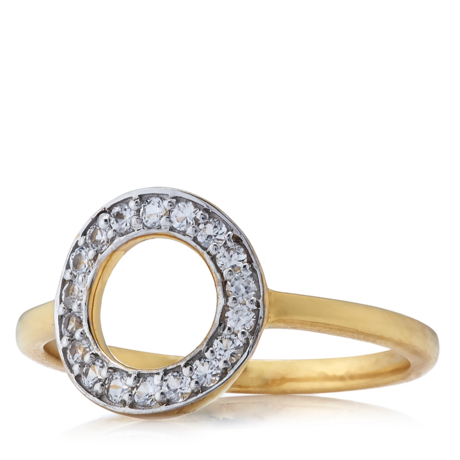 K by Kelly Hoppen Eternal Circle Ring 18ct Gold Vermeil Sterling