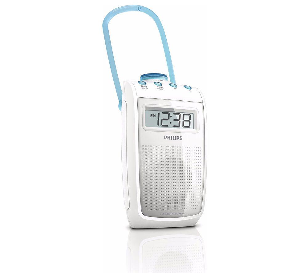 Philips Badezimmer Radio Spritzwasserfest Timerfunktion, Badezimmer
