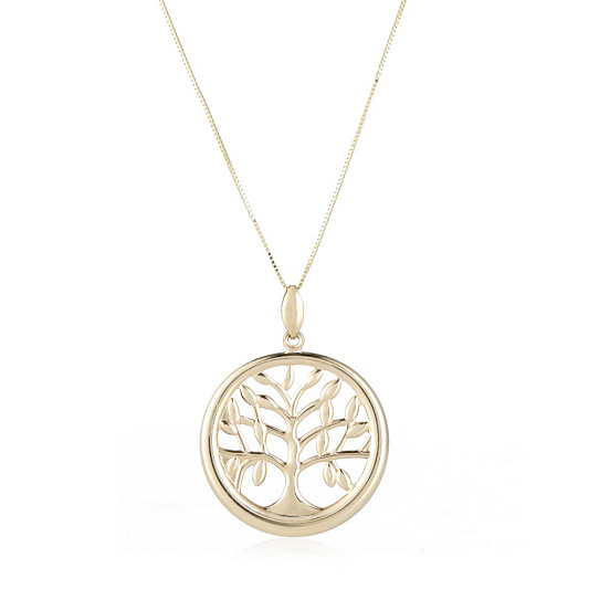 9ct gold tree of life pendant 60cm chain page 1 qvc uk aloadofball Choice Image