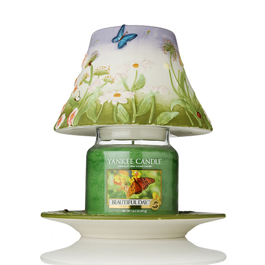 Yankee candle summers day shadetray medium jar candle qvc uk mozeypictures Gallery