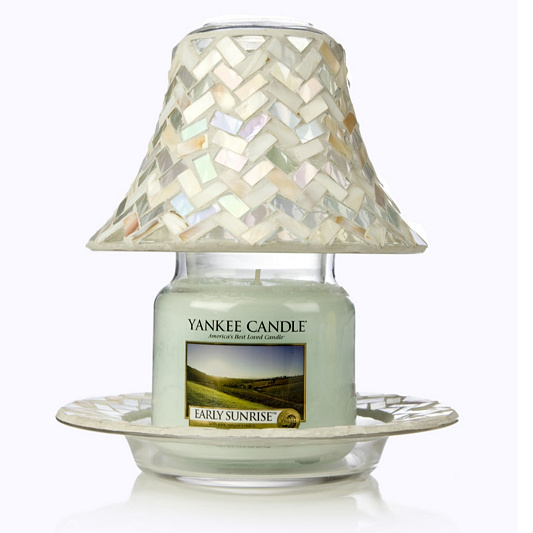 Yankee candle reflection shade plate with medium jar candle qvc uk mozeypictures Gallery