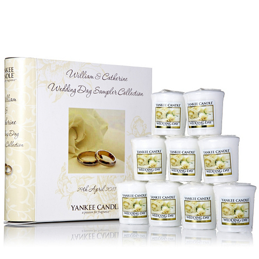Yankee Candle Royal Wedding Set Of  Samplers In A Souvenir Book Qvc Uk