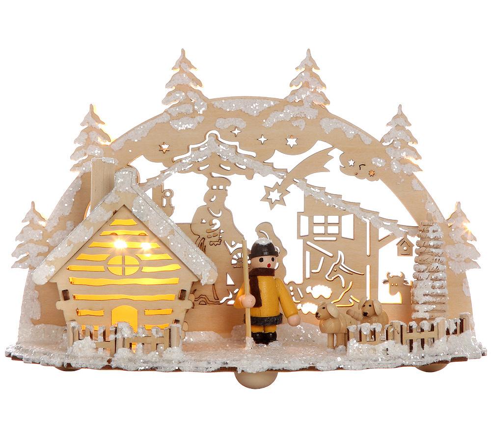 lumida xmas weihnachtsdeko aus holz timerfunktion ca. 17cm hoch, Deko ideen