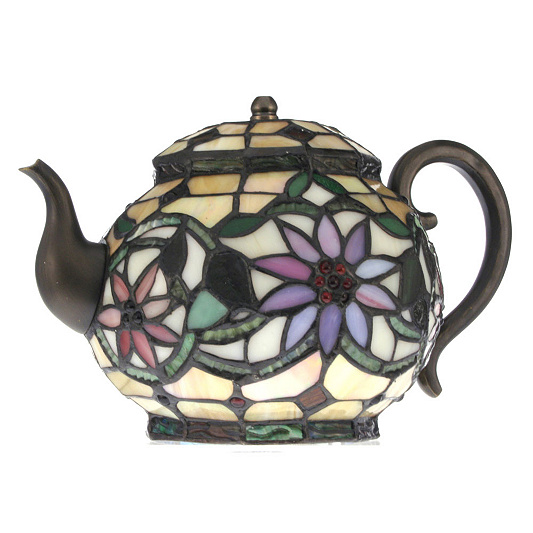 Tiffany Style Handcrafted Teapot Novelty Lamp   QVC UK. Tiffany Style Lamps Qvc Uk. Home Design Ideas
