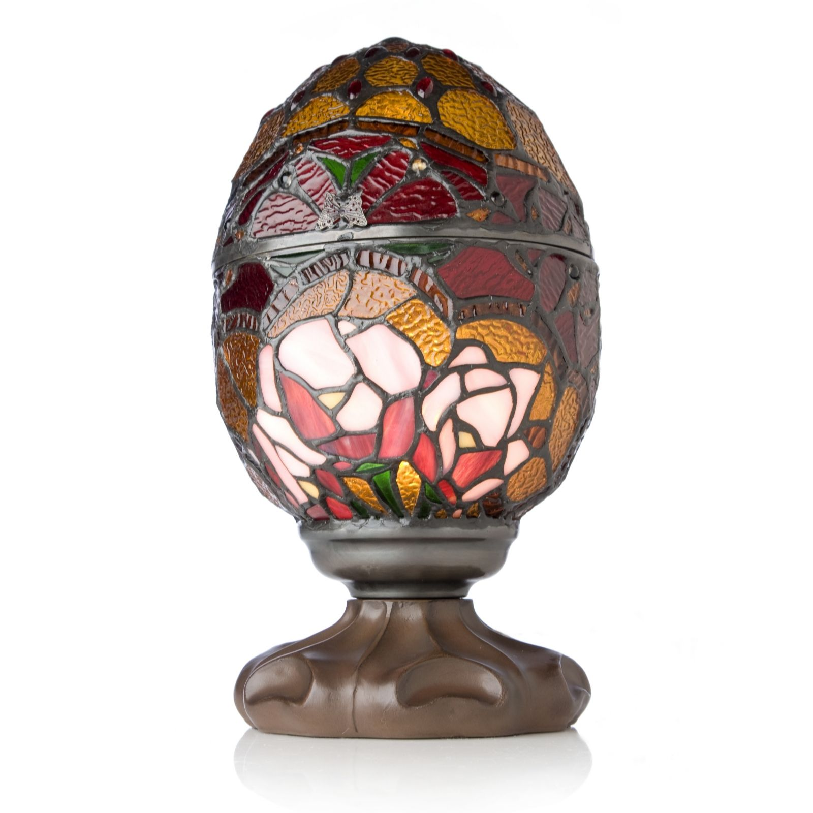 Tiffany Style Handcrafted Flower Orb Novelty Lamp   QVC UK