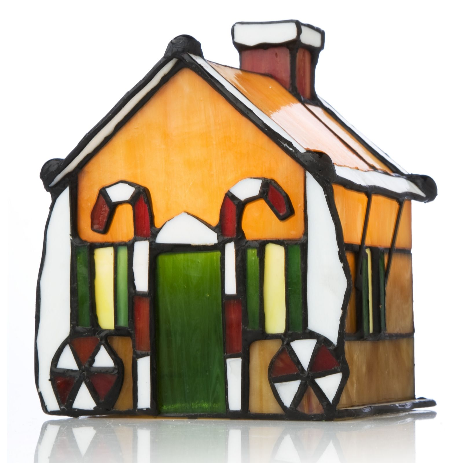 Tiffany Style Handcrafted Ginger Bread House Novelty Lamp   QVC UK