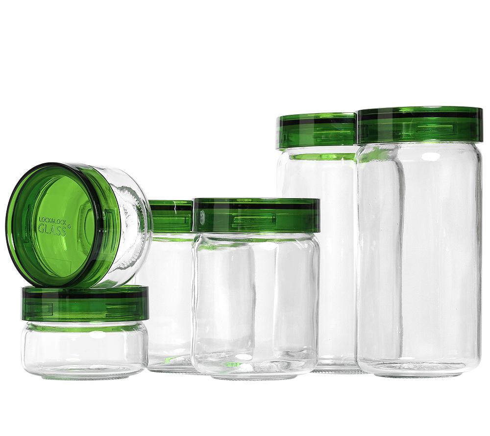 Vorratsdosen Glas lock lock vorratsdosen aus glas ca 140 650ml 6 dosen page 1 qvc de