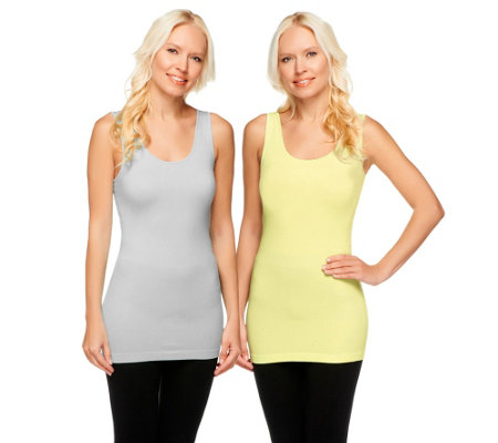 skinnytees Seamless Tank Set of Two