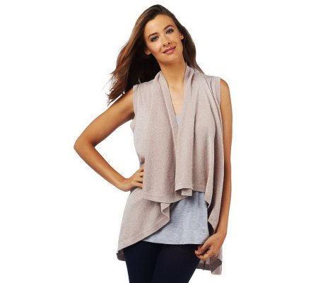 Luxe Rachel Zoe Metallic Sleeveless Cardigan Sweater Vest - Page 1 ...