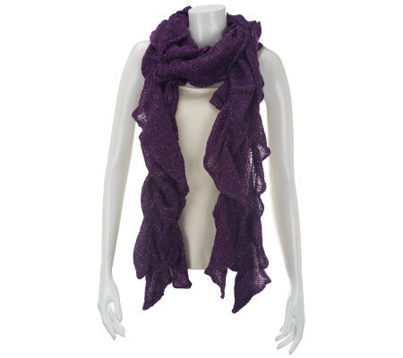 Ruffle Scrunch Scarf with Lurex