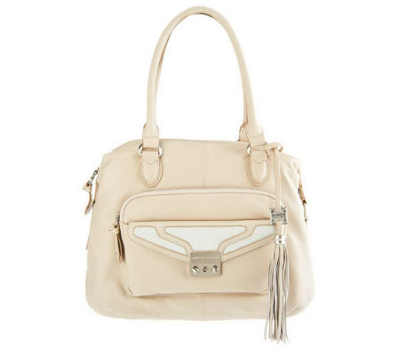Aimee Kestenberg Leather Sarah Satchel w/Front Pocket