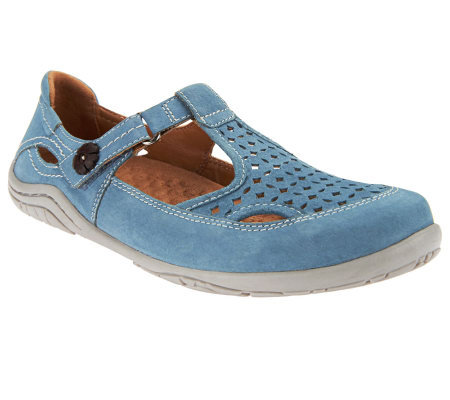 Earth Origins Suede T-strap Mary Janes - Swirl