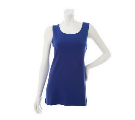 """As Is"" Susan Graver Essentials Knit Scoop Neck Tank Top"
