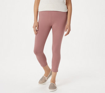 LOGO Layers by Lori Goldstein Petite Knit Crop Leggings - A251900