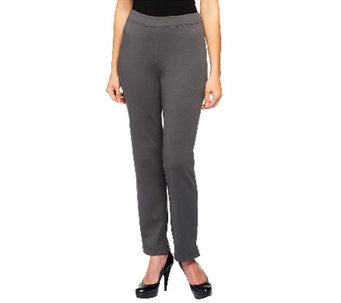 Joan Rivers Wardrobe Builders Petite Ponte Knit Slim Pants - A255200