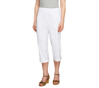 """As Is"" Denim & Co. ""How Timeless"" Regular Capri Pants W/Tab - A260400"