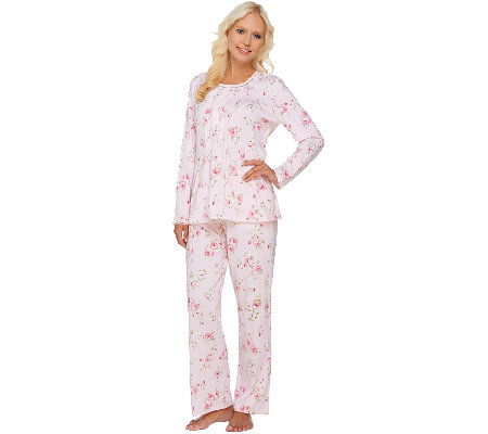 Carole Hochman Petite Veiled Bouquet 2-Piece PJ Set