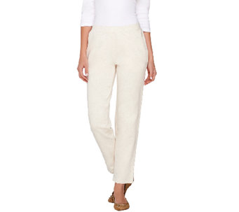 Denim & Co. Active French Terry Ankle Pants w/ Twill Tape - A267200