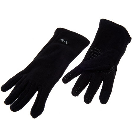 The Perfect Fit Stretch Fleece Gloves w/Textin Capabilities & Grip Dots