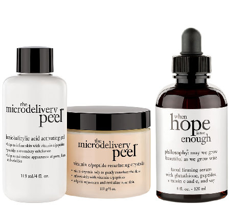 philosophy super-size peel & treat skincare duo