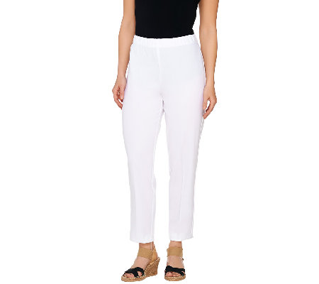 """As Is"" Susan Graver Chelsea Stretch Comfort Waist Ankle Pants"