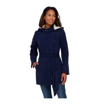 Dennis Basso Water Resistant Asymmetrical Zip Front Jacket