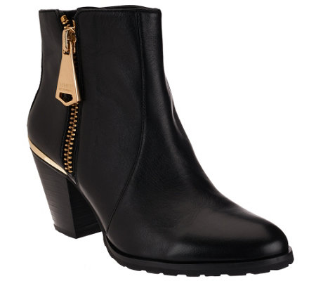 """As Is"" Aimee Kestenberg Leather Ankle Booties - Dana"