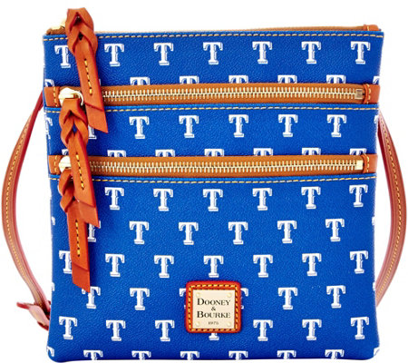 Dooney & Bourke MLB Rangers Triple Zip Crossbody