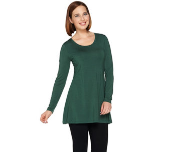 H by Halston Essentials Scoopneck Long Sleeve Knit Tunic - A280700