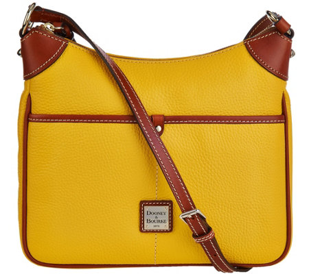 """As Is"" Dooney & Bourke Pebble Leather Kimberly Crossbody Bag"