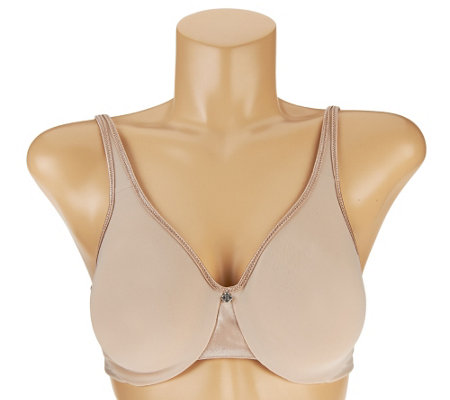 """As Is"" Breezies Microfiber Back Smoothing Minimizer Bra"