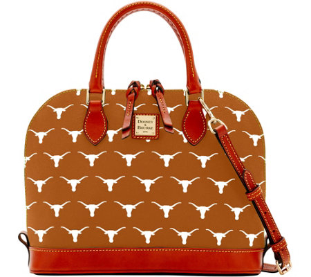 Dooney & Bourke NCAA University of Texas Zip Zip Satchel
