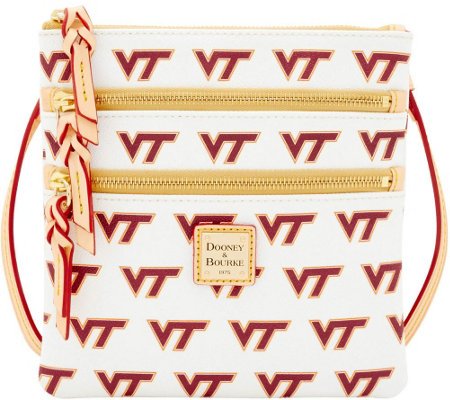 Dooney & Bourke NCAA Virginia Tech University Zip Crossbody