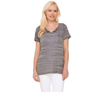 """As Is"" Lisa Rinna Collection Short Sleeve V-Neck Top - A286700"