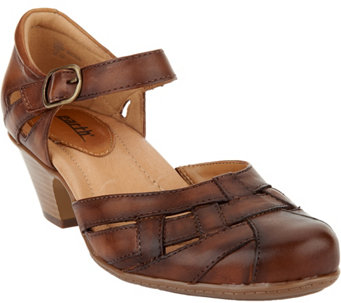 Earth Leather Closed Toe Sandals - Lynx - A289300