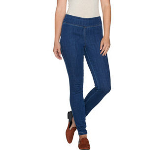 """As Is"" LOGO by Lori Goldstein Petite Stretch Denim Skinny Jeans - A292100"