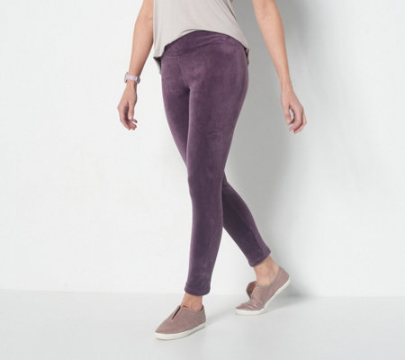 Cuddl Duds Double Plush Velour Leggings