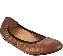 Vionic Orthotic Quilted Leather Flats - Ava - A293700