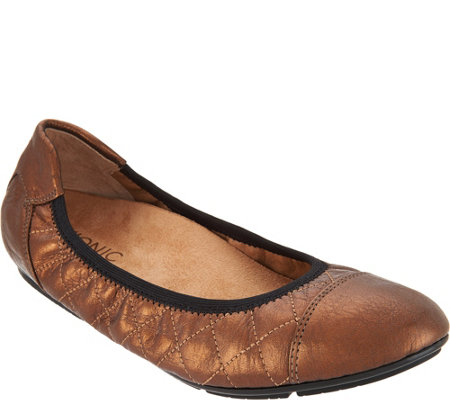 Vionic Quilted Leather Flats - Ava