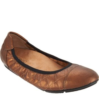 Vionic Orthotic Quilted Leather Flats - Ava