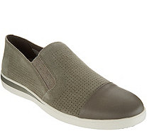 ED Ellen DeGeneres Perforated Suede Slip-Ons - Aviana - A297000