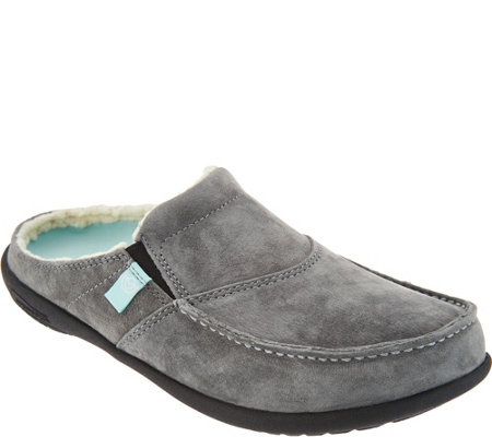 Spenco Orthotic Suede Slip-On Shoes - Cozy