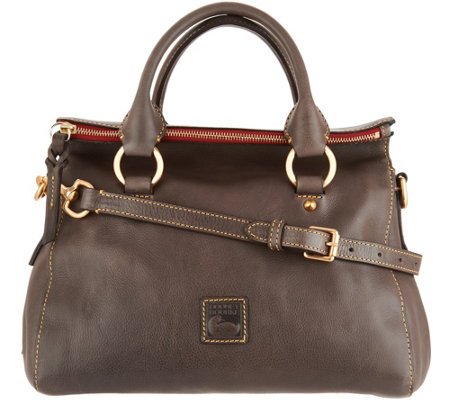 """As Is"" Dooney & Bourke Florentine Leather Leanna Satchel"