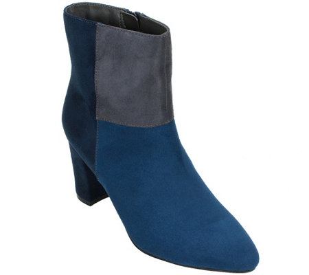 Rialto Color-Block Heeled Bootie - Mora