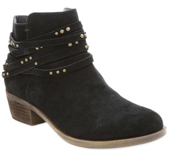 Kensie Suede Leather Ankle Booties - Gilberto - A355700