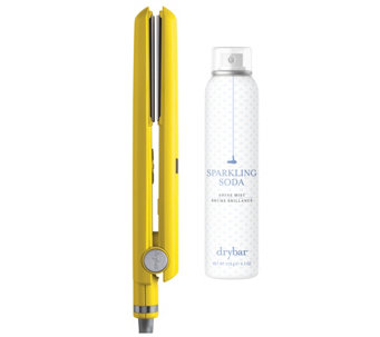 "Drybar Tress Press 1"" Styling Iron & SparklingSoda Shine Mist - A356400"