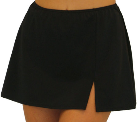 Fit 4 Ur Hips Solid Skirt w/ Slit